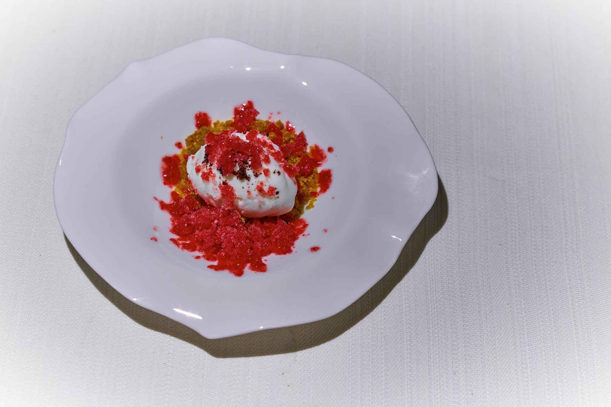 Essenza ristorante granita di fragola