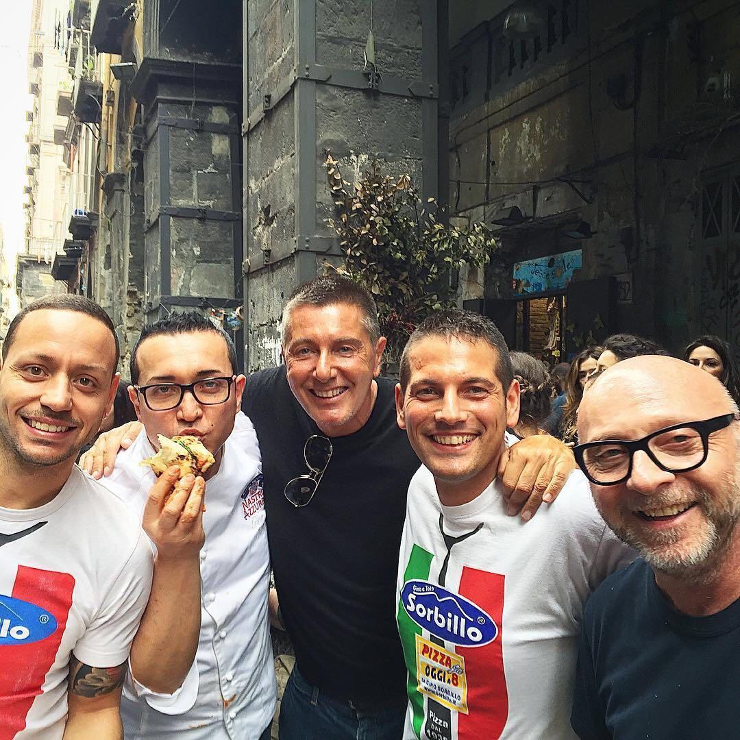Gino Sorbillo Domenico Dolce Stefano Gabbana
