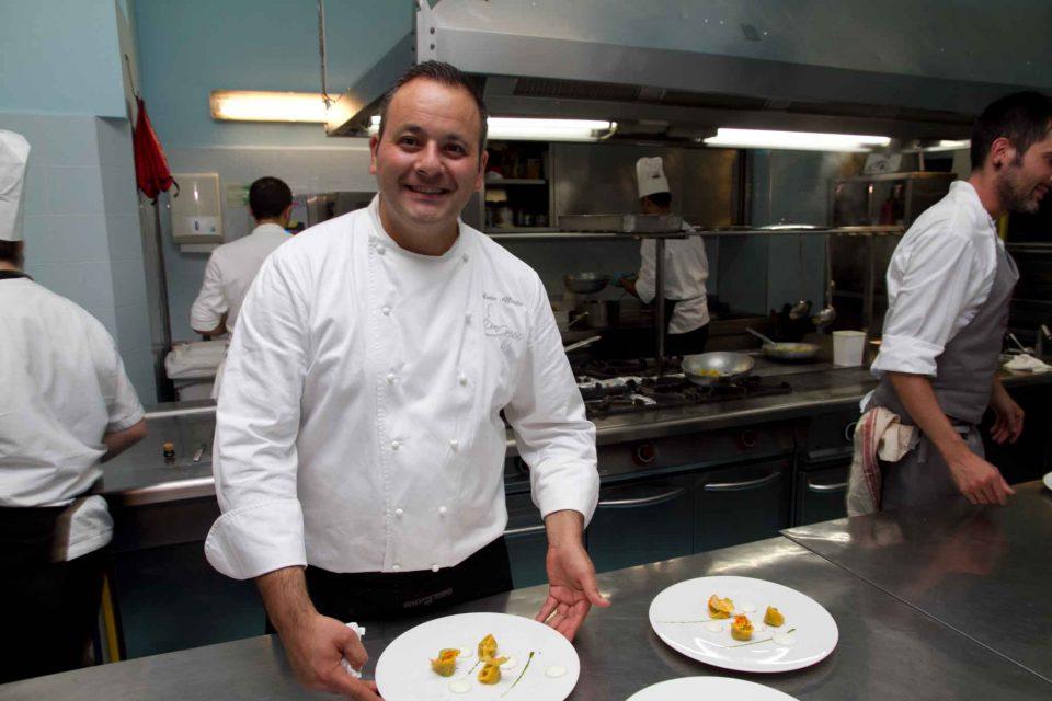 Mario Affinita e tortelli alla Nerano