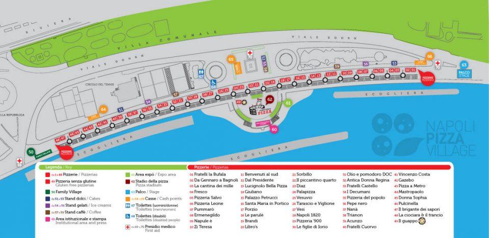 Napoli Pizza Village 2016 mappa