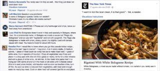 Rigatoni With White Bolognese, la ricetta del New York Times che fa indignare Facebook