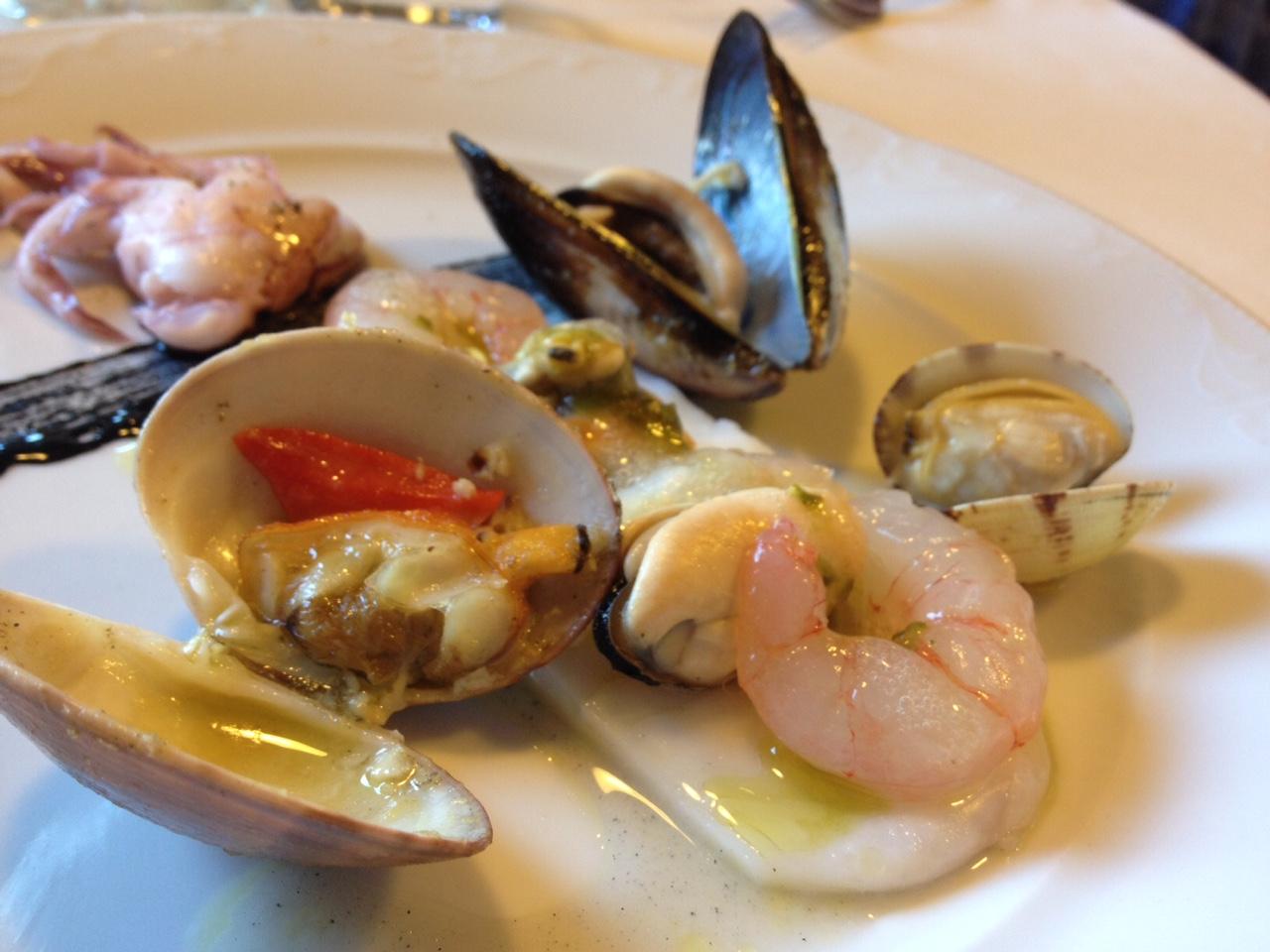 Vecchia Locanda Scarlino insalata scomposta di mare