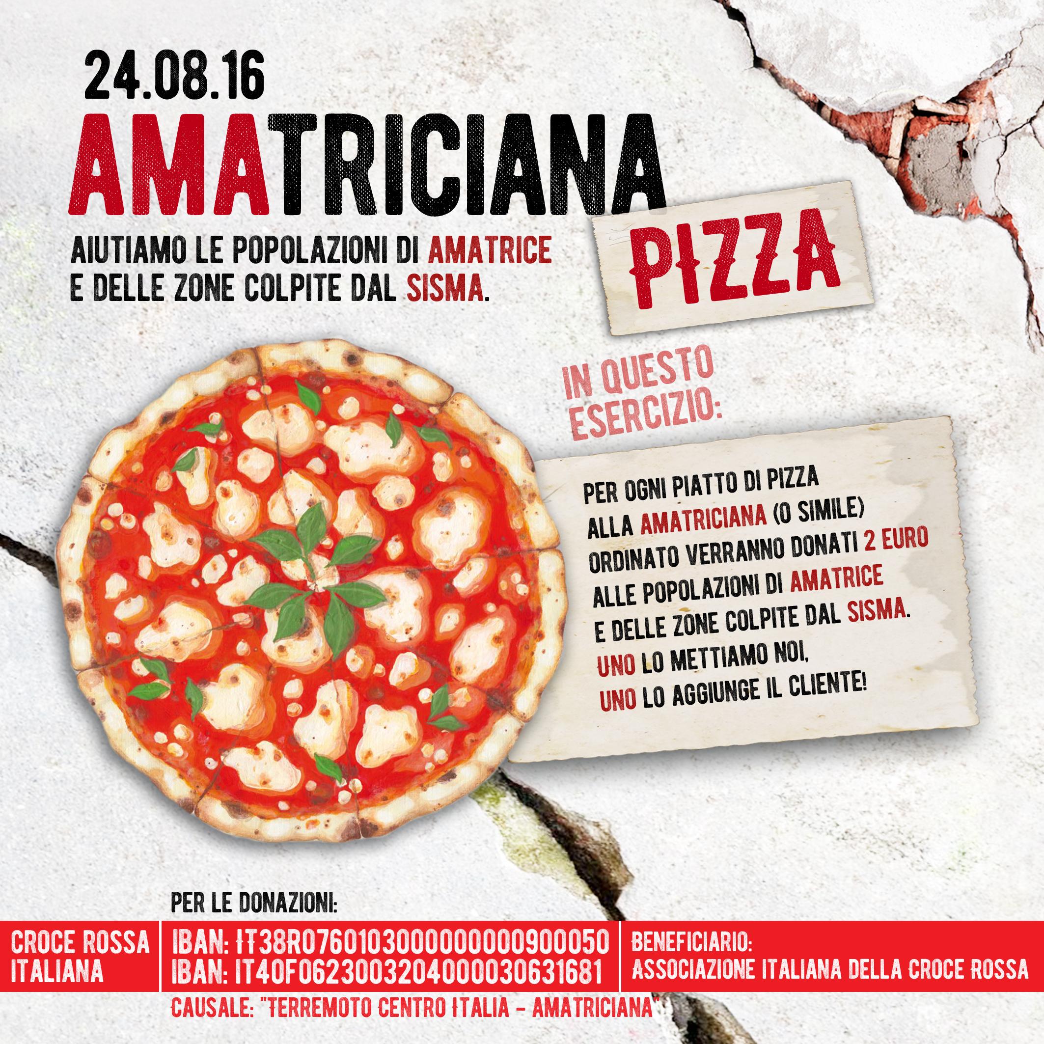 terremoto Amatrice pizza locandina
