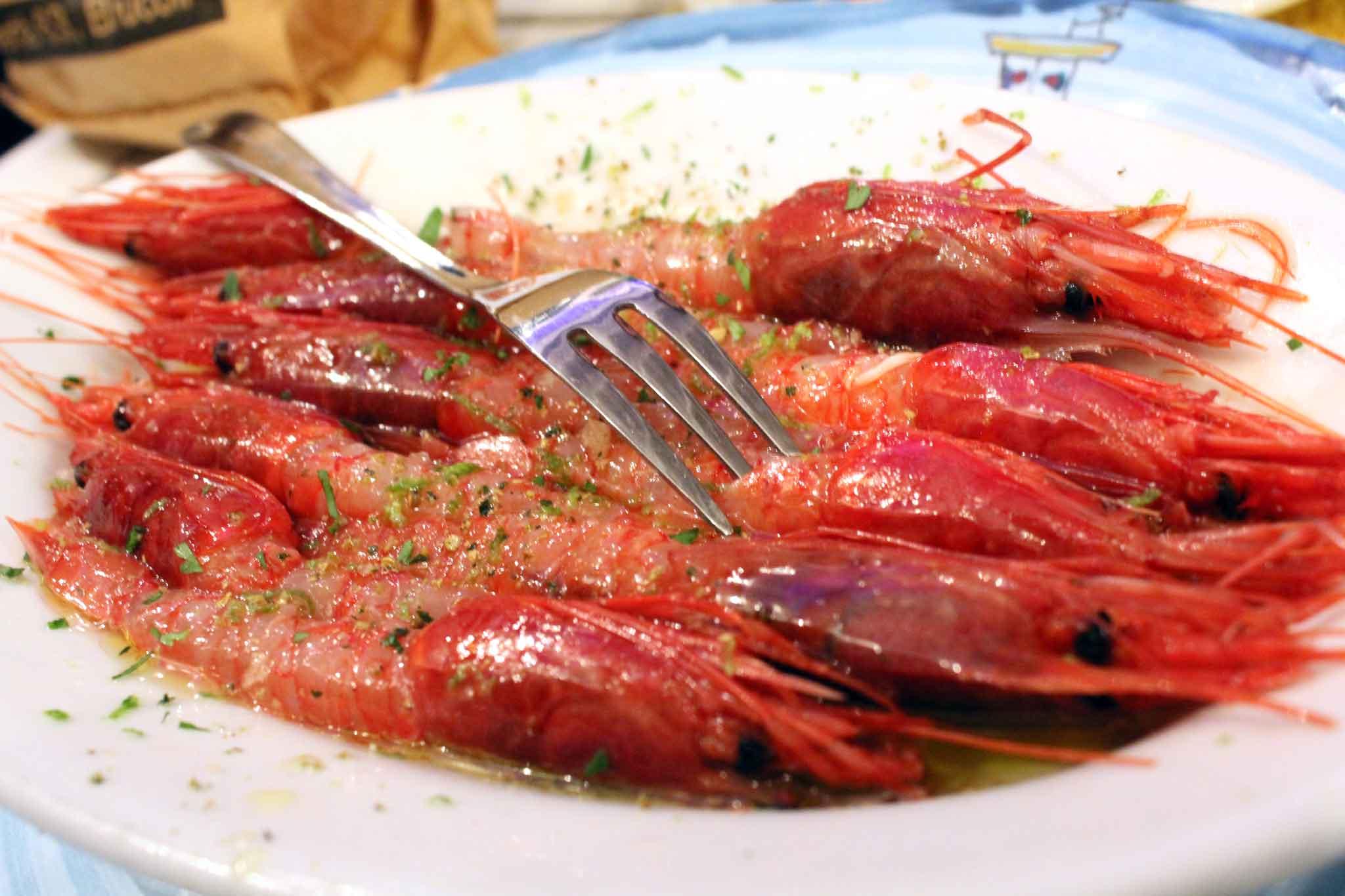 gamberi rossi di Sicilia