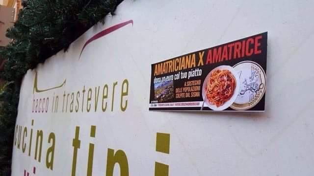Terremoto amatrice aiuto ristoranti Trastevere