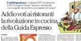 Rivoluzione Espresso. Enzo Vizzari toglie i voti alla guida Ristoranti 2017