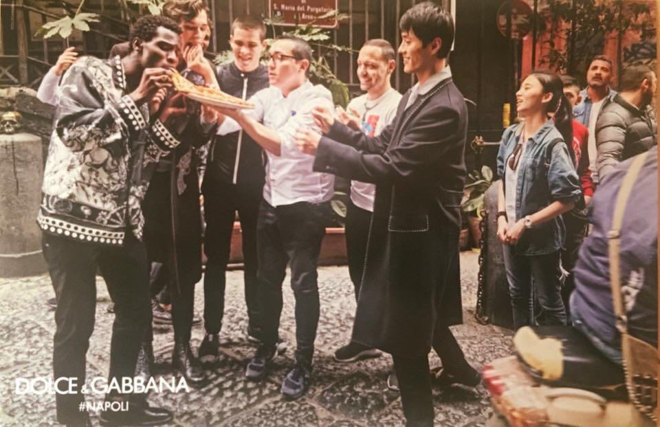 pizza Sorbillo campagna pubblicitaria Dolce Gabbana