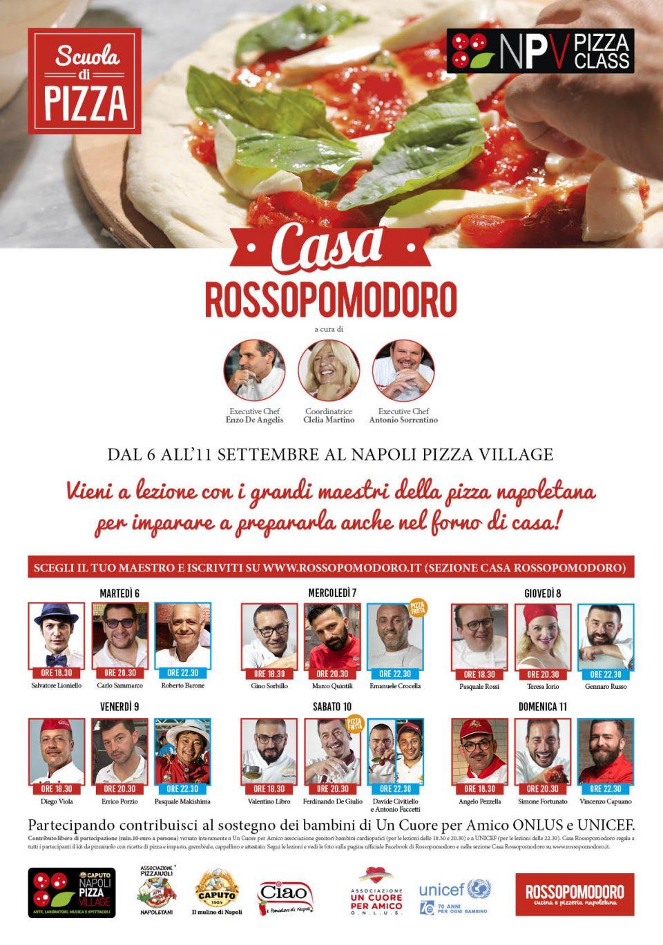 Napoli Pizza Village calendario scuola di pizza
