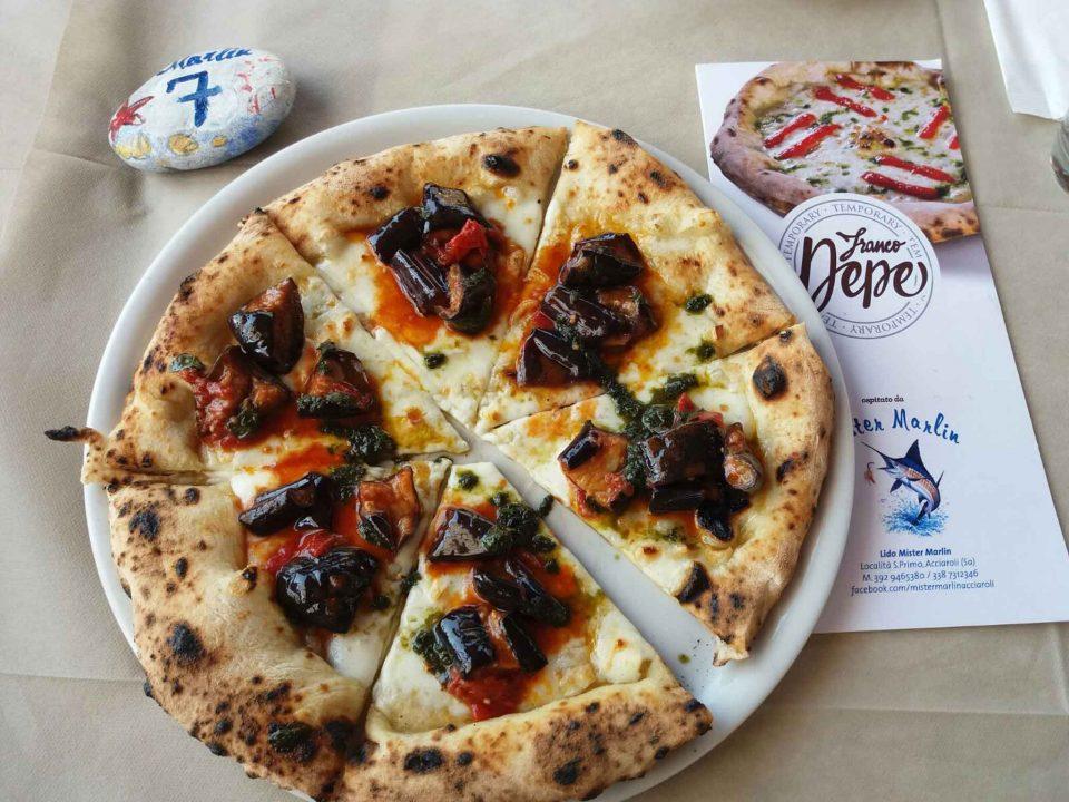 pizza Franco Pepe Mister Marlin melanzane