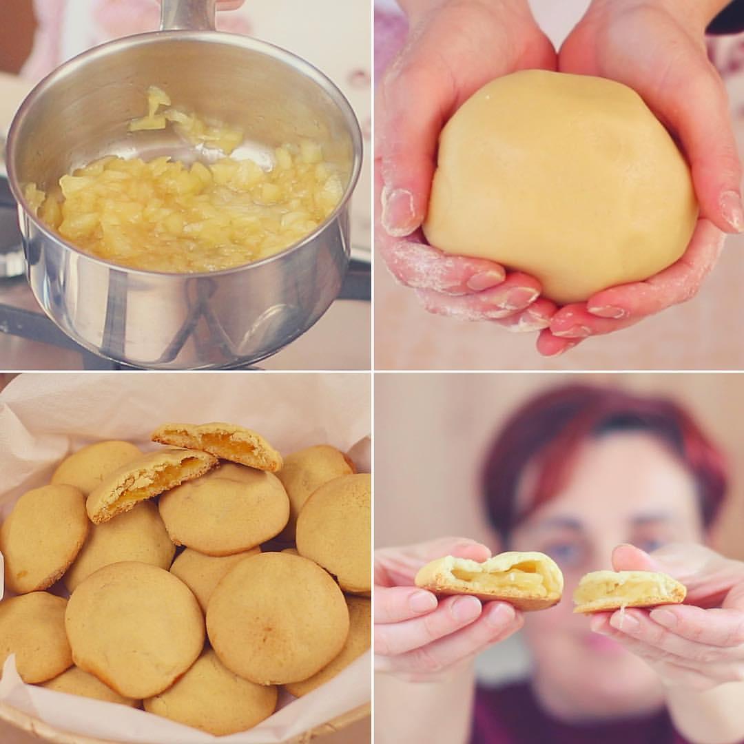 biscotti,cuor,di,mela