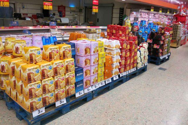 Panettone supermercato