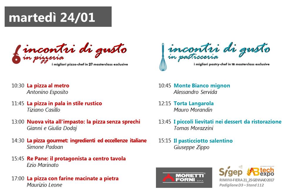 Incontri di Gusto Sigep pizza pasticceria Moretti Forni 24 gennaio