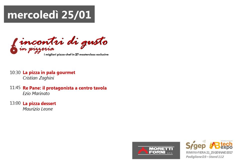 Incontri di Gusto Sigep pizza pasticceria Moretti Forni 25 gennaio