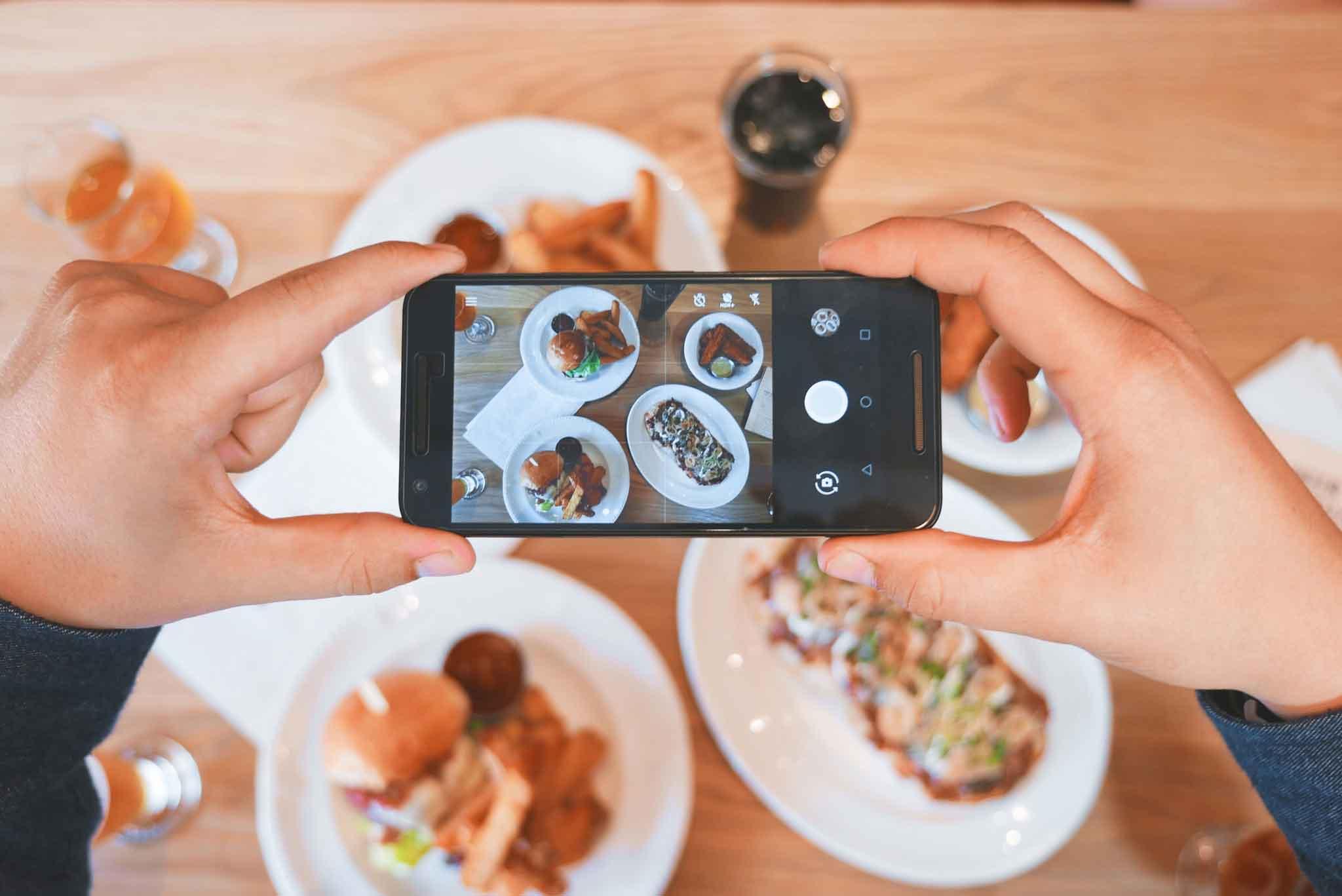 Instagram come fotografare cibo