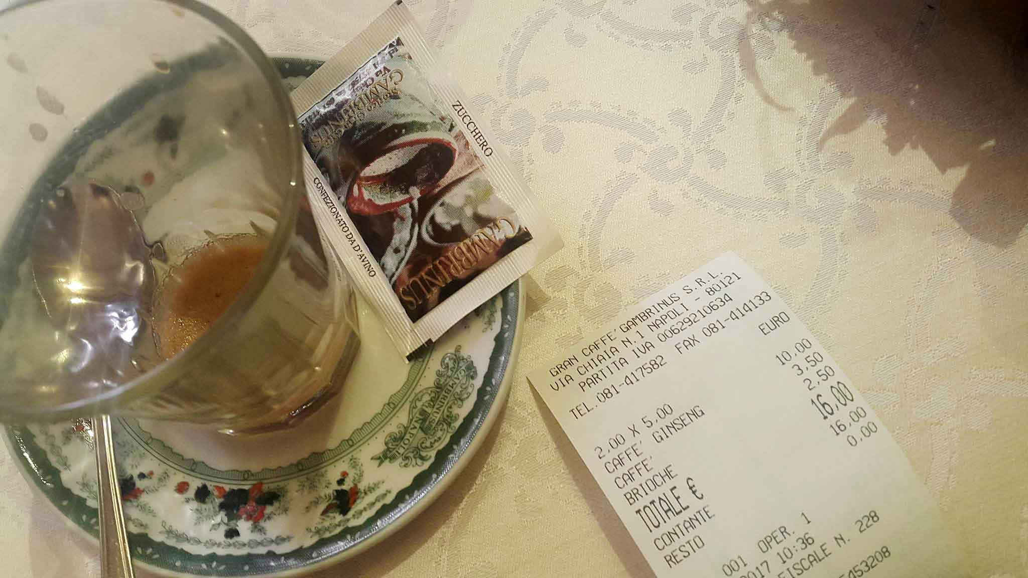 conto caffe Gambrinus
