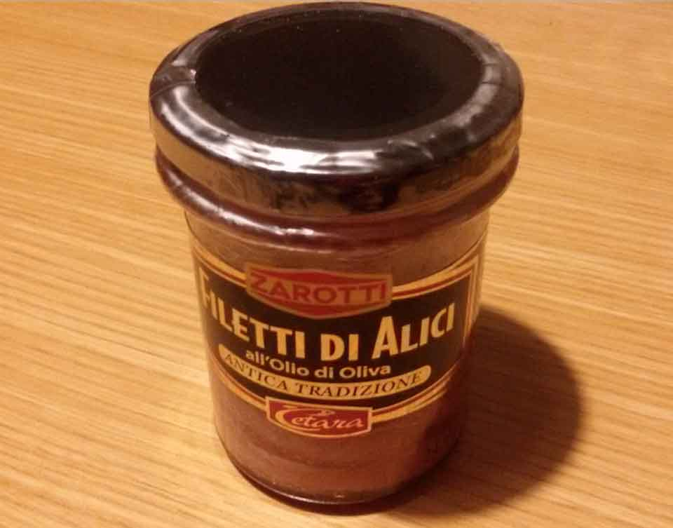 filetti di alici olio oliva