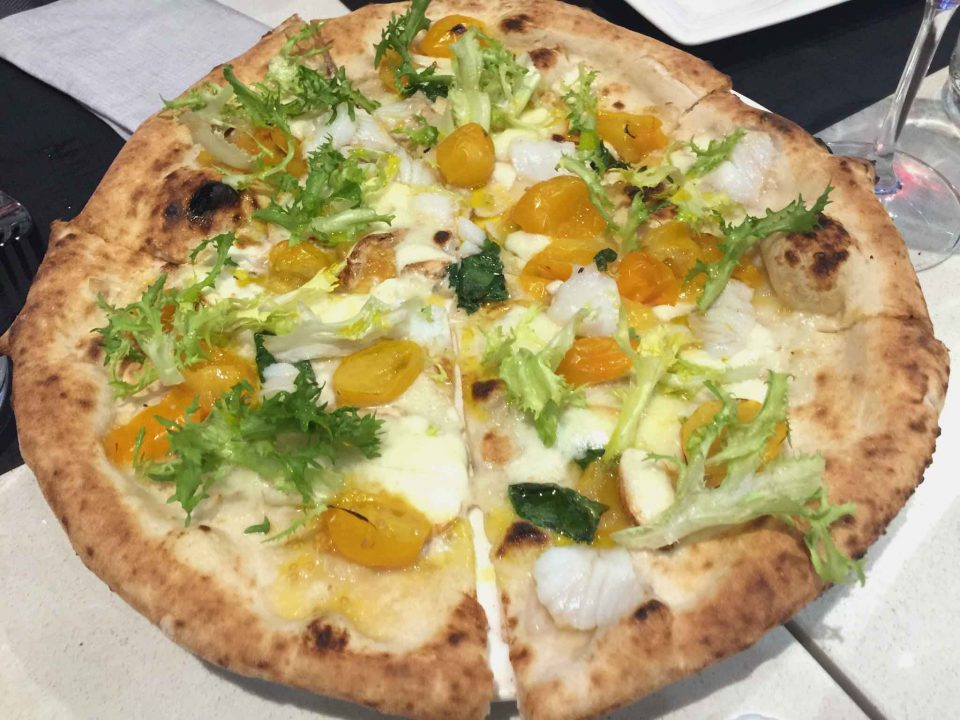 pizza baccala pomodorini gialli Enzo Coccia