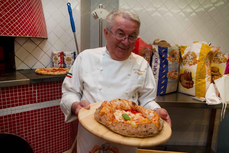 Piergiorgio Giorilli pizza a canotto