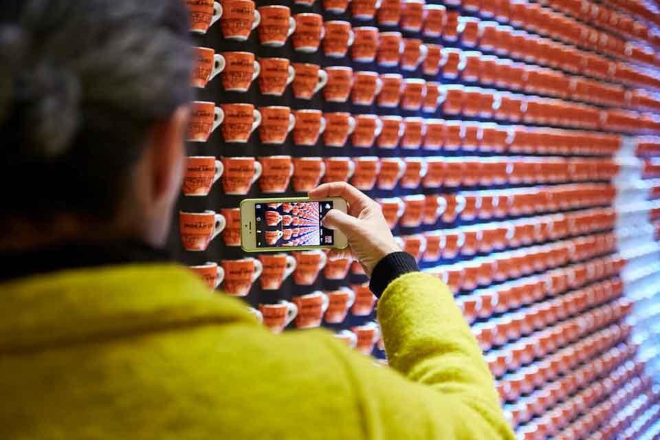 foto smartphone tazzine caffè