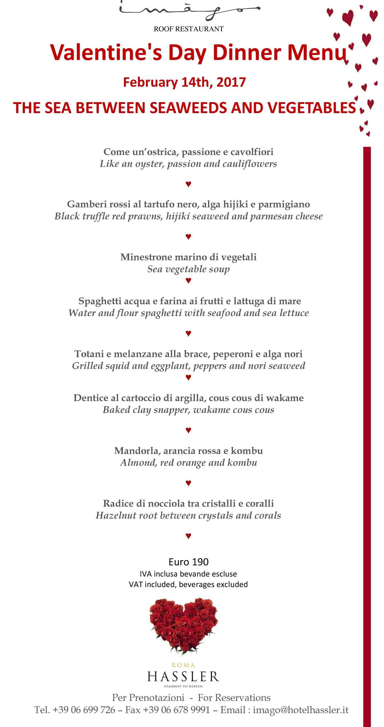 Una cena di San Valentino con un panorama che non ha confronti all\u0027Imàgo,  ristorante stella Michelin dell\u0027Hotel Hassler a Trinità dei Monti, Roma
