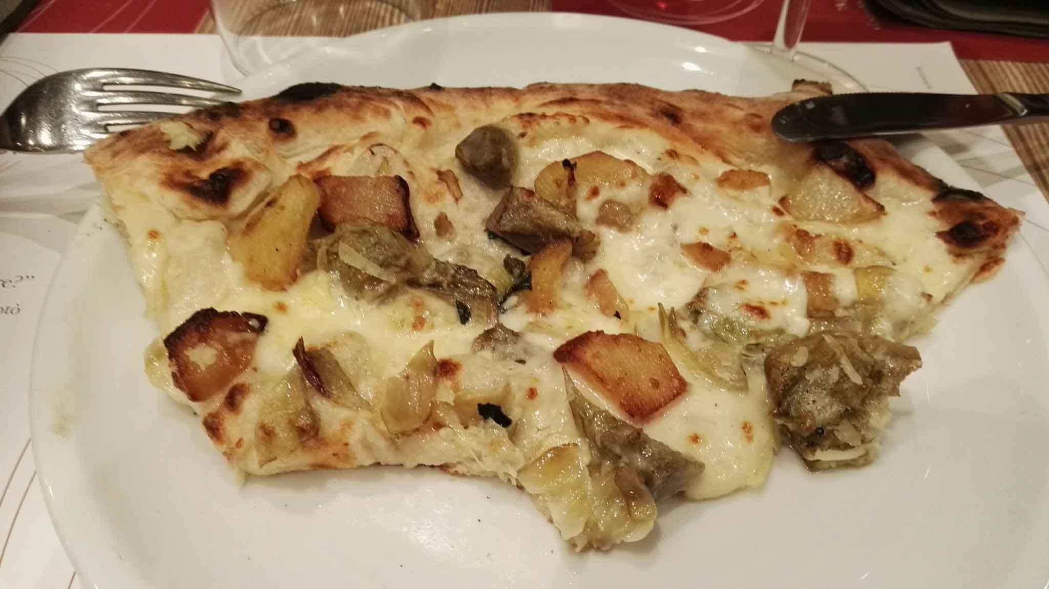 pizza bianca carciofi Luca Castellano