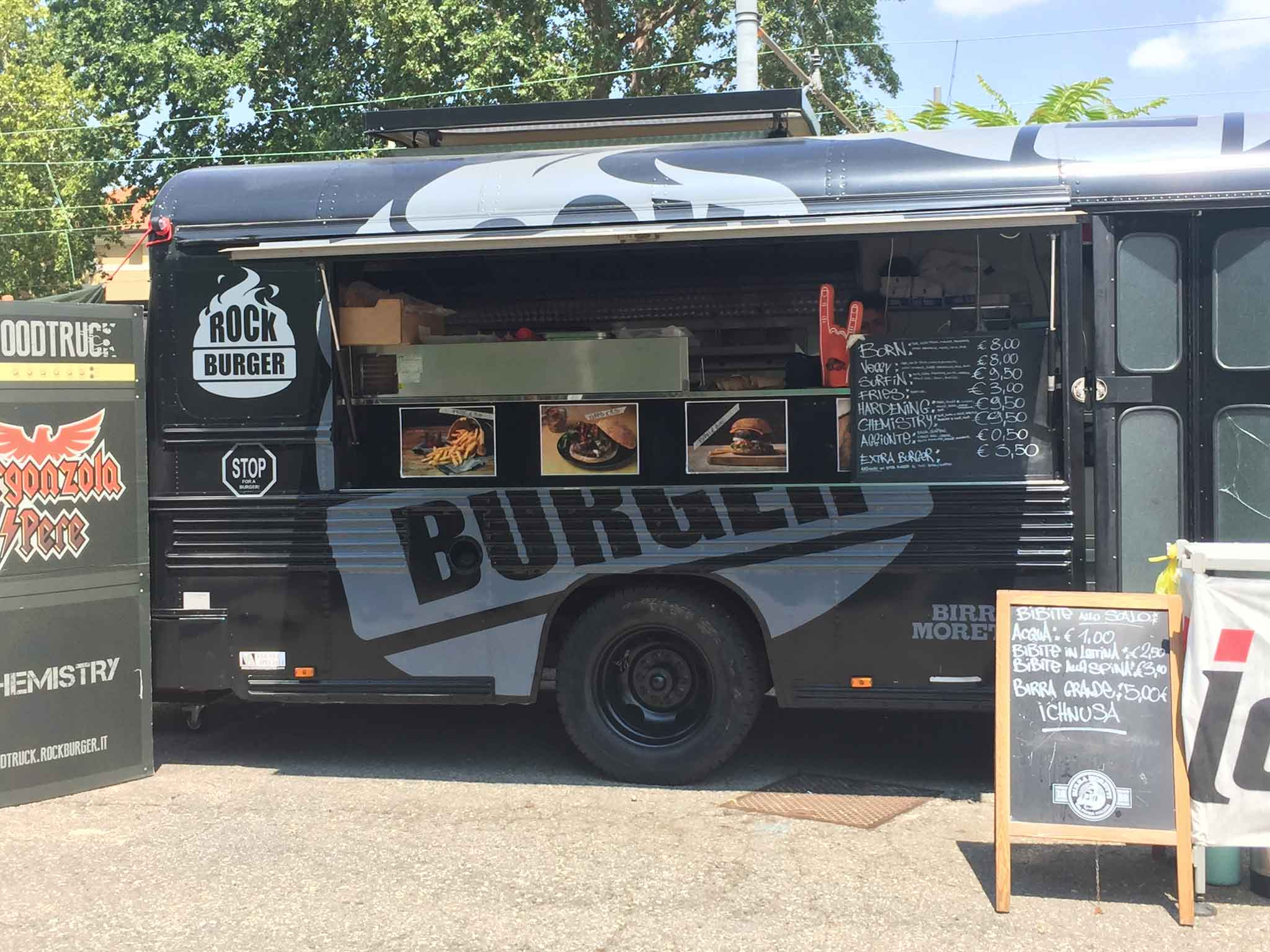 rock burger milano food truck