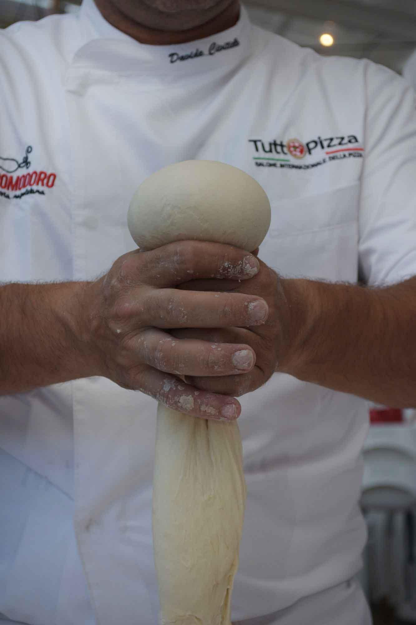 pallina di impasto per pizza