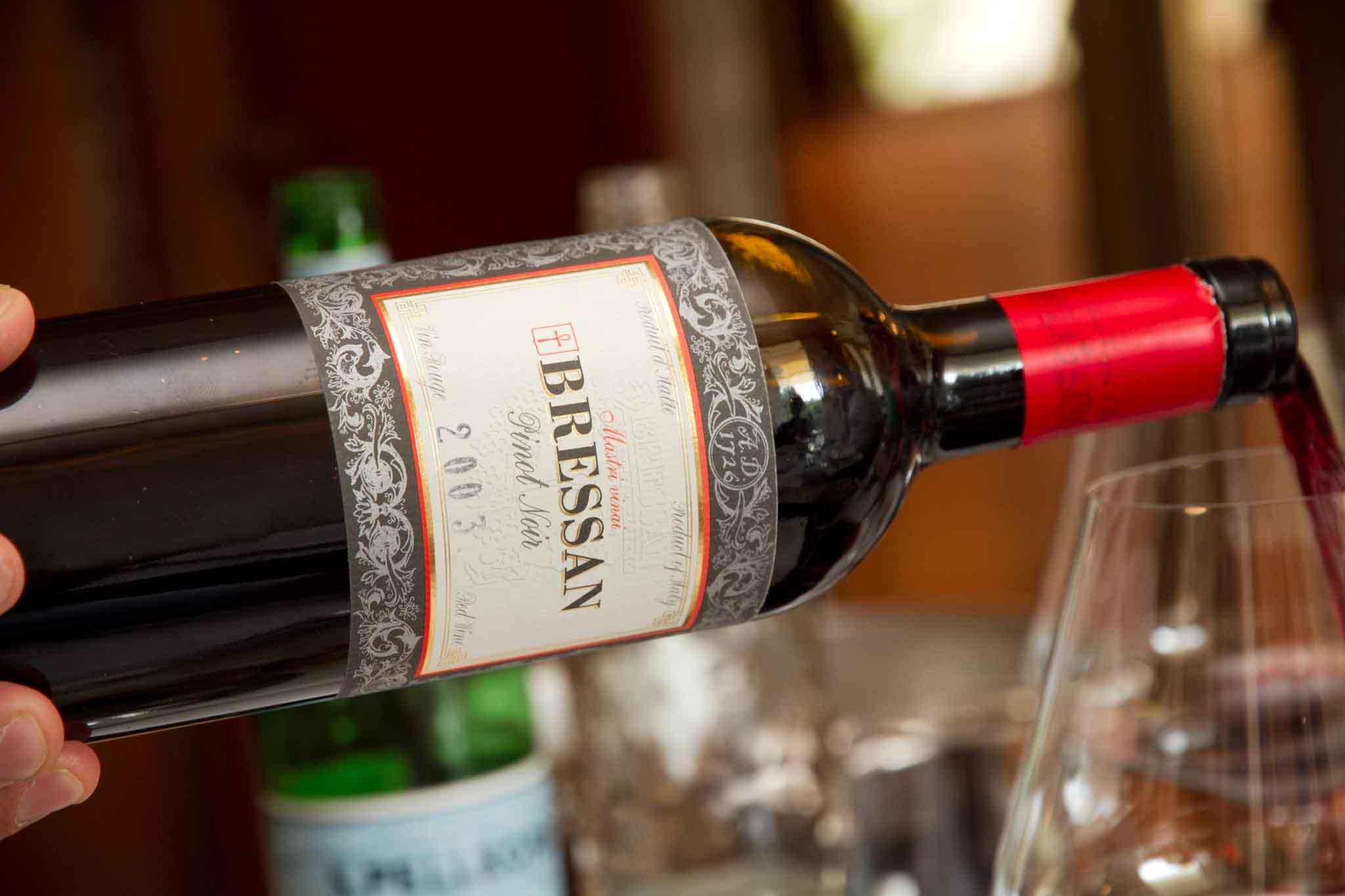 Bressan pinot nero vino