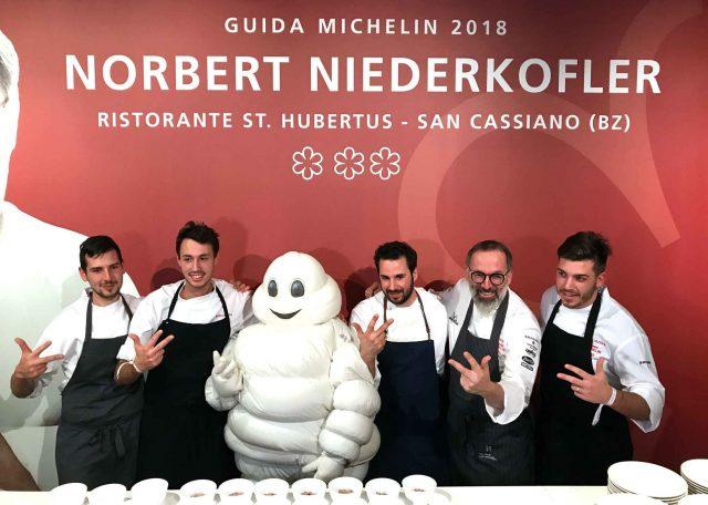 Norbert Niederkofler tre stelle Michelin festa
