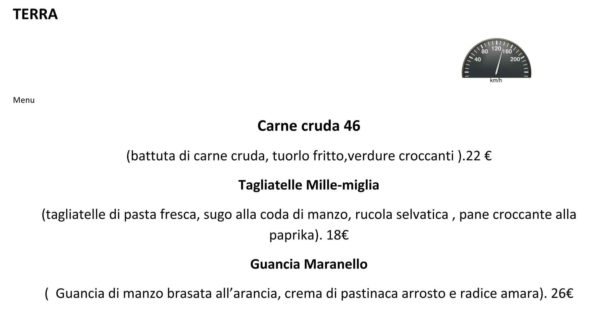Molto Milano. Menu e prezzi dei piatti di Garage Italia Customs che apre  SB61
