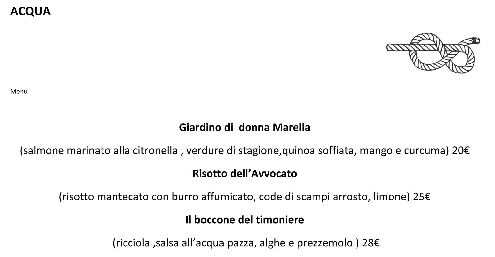 Top Milano. Menu e prezzi dei piatti di Garage Italia Customs che apre  OJ33