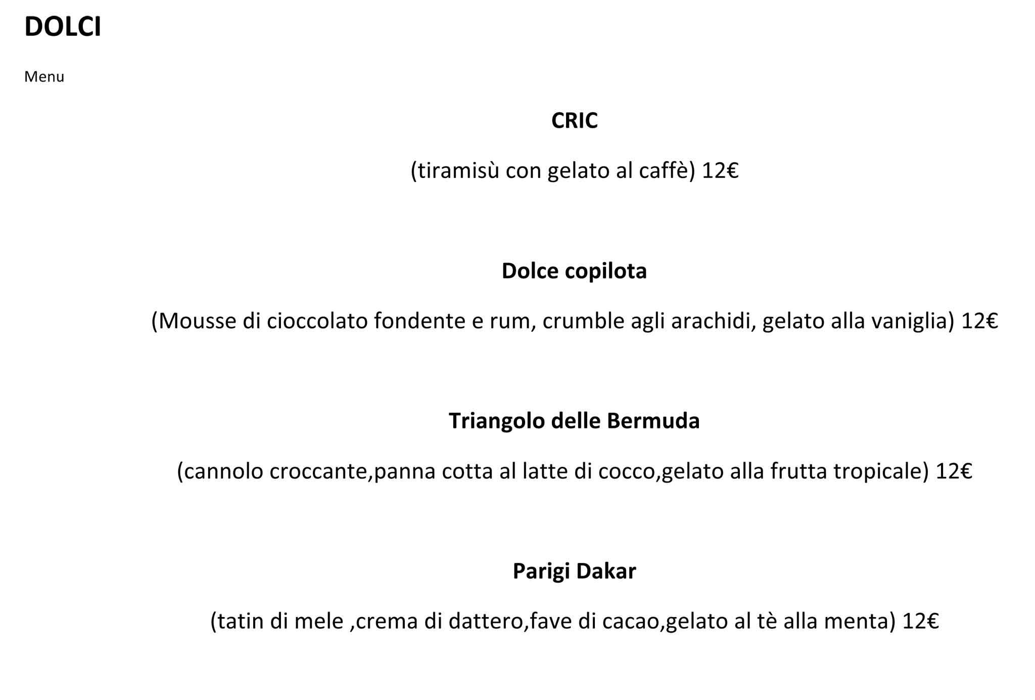 Amato Milano. Menu e prezzi dei piatti di Garage Italia Customs che apre  AE54