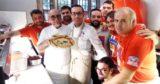 Caserta a Napoli. Francesco Martucci da Gino Sorbillo dopo la presentazione del calendario One Pizza 2018