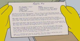 Homer Simpson e la ricetta della torta di mele di Evan Kleiman