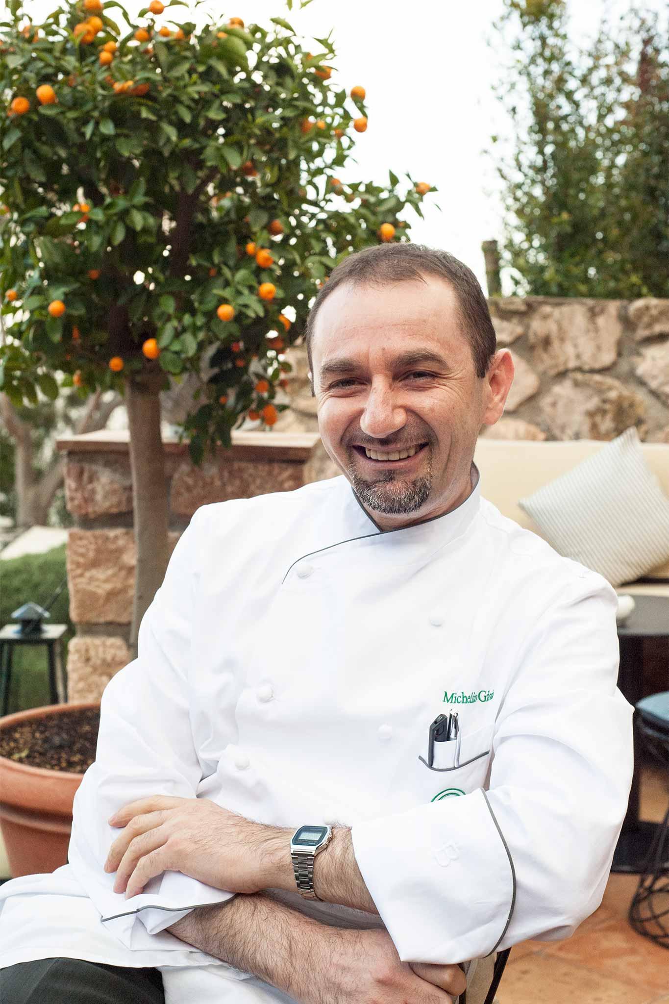 Michelino Gioia chef de Il Pellicano stella michelin