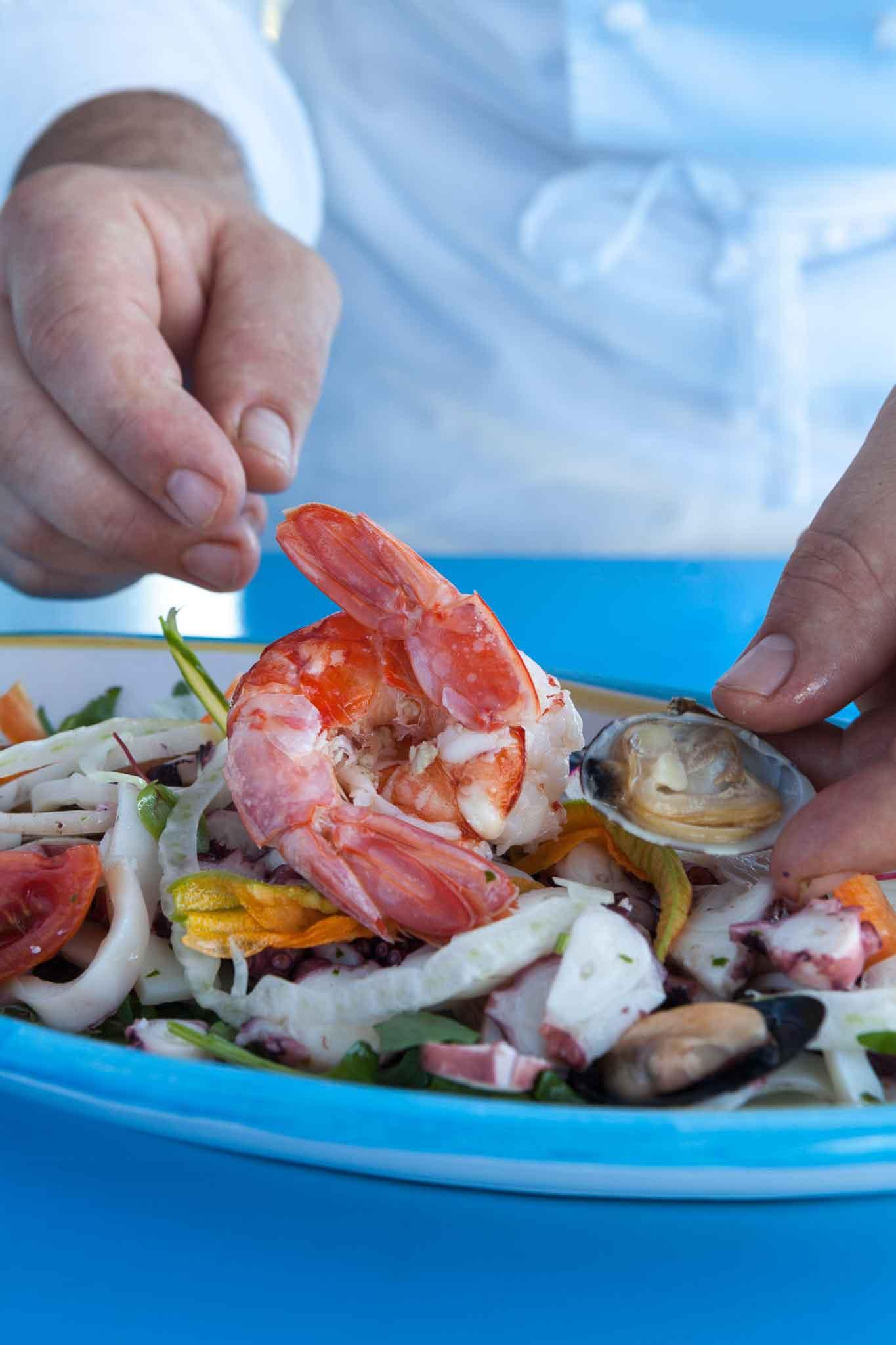 Riccio ristorante Capri insalata di mare