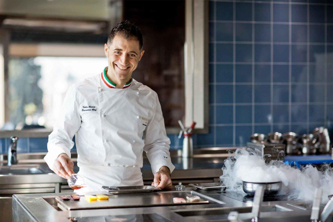 Fabio Ciervo chef de La Terrazza dell'hotel Eden