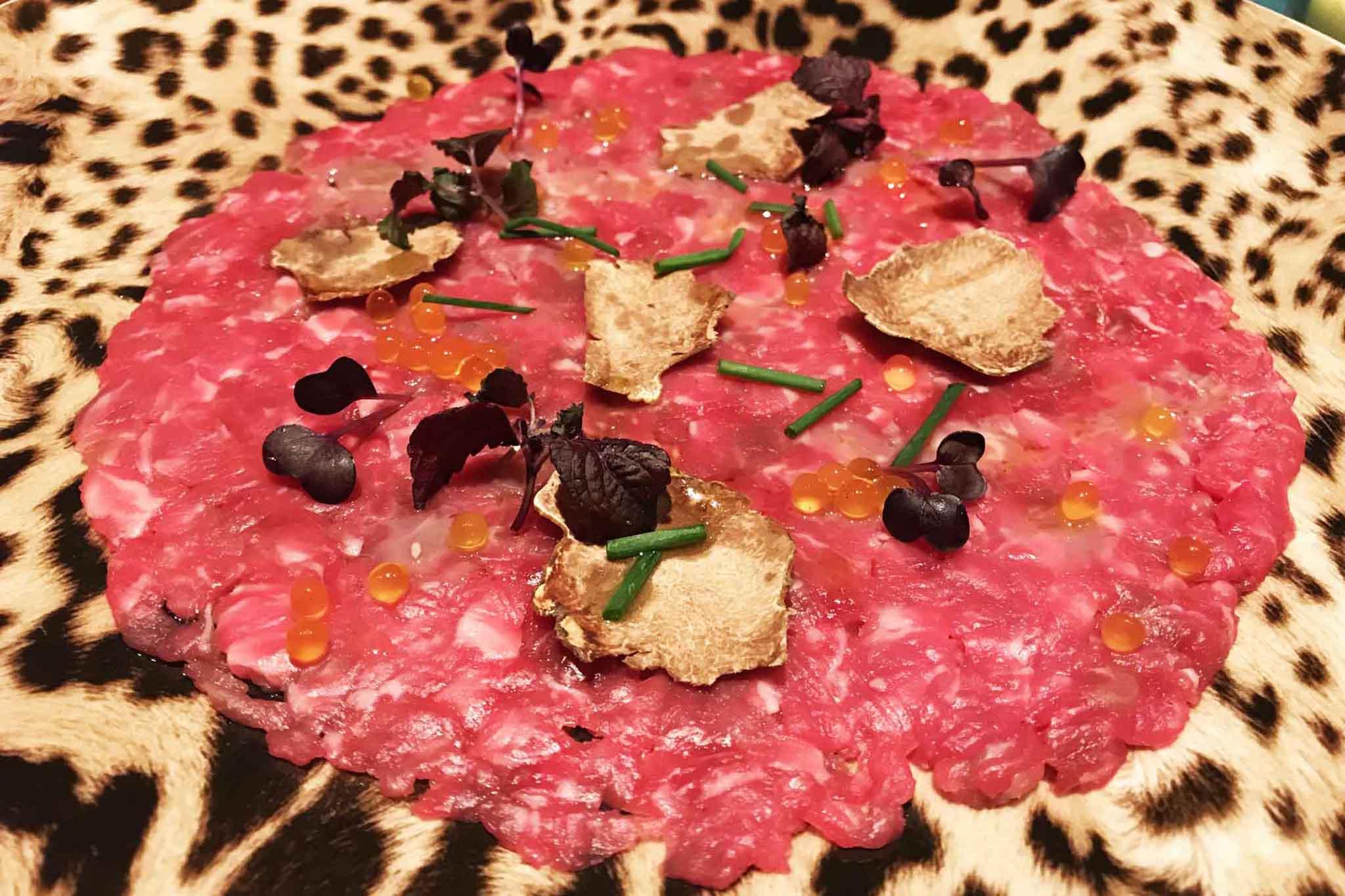Just Cavalli tartare tartufo bianco balsamico erbe