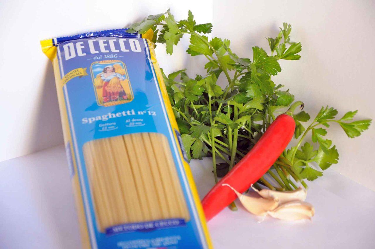 spaghetti per vongole De Cecco