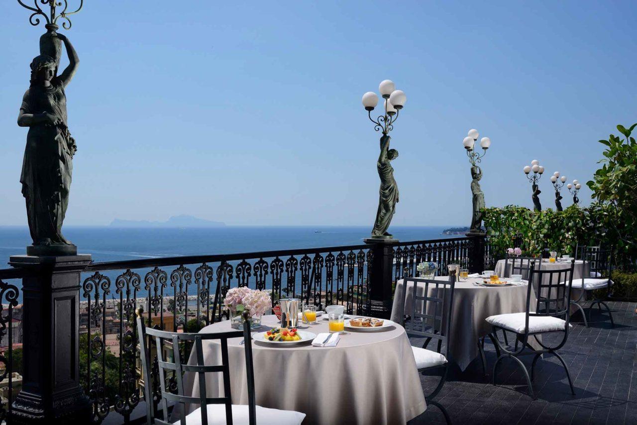 George restaurant, napoli, terrazza, ristoranti d'albergo
