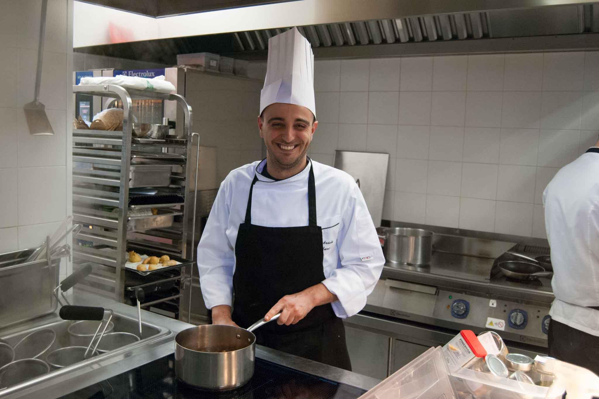 Gabriele Muro chef Adelaide al Vilon Roma centro