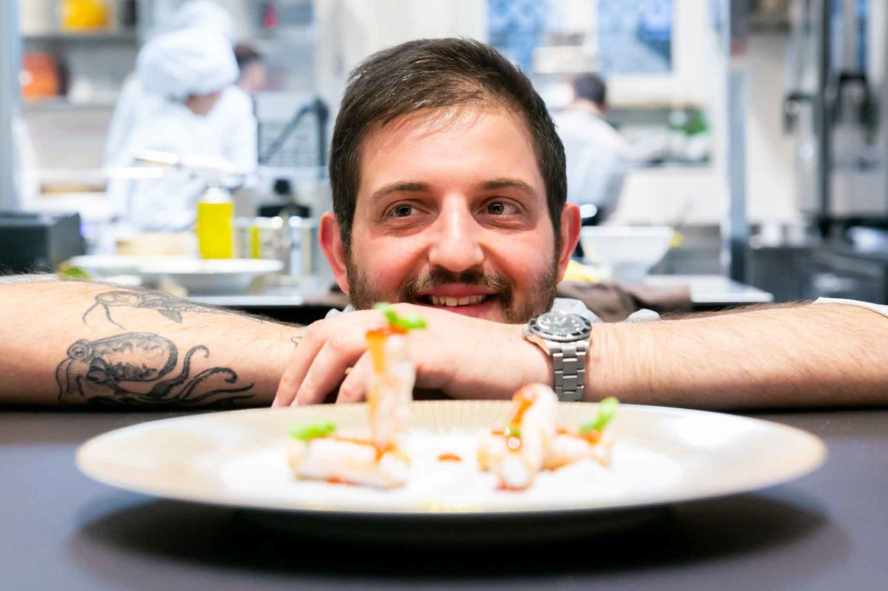 Cristoforo Trapani chef del ristorante La Magnolioa a Forte dei Marmi
