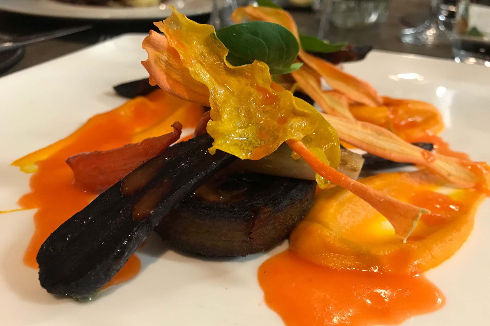 Roots ristorante didattico Les Roches Svizzera carote