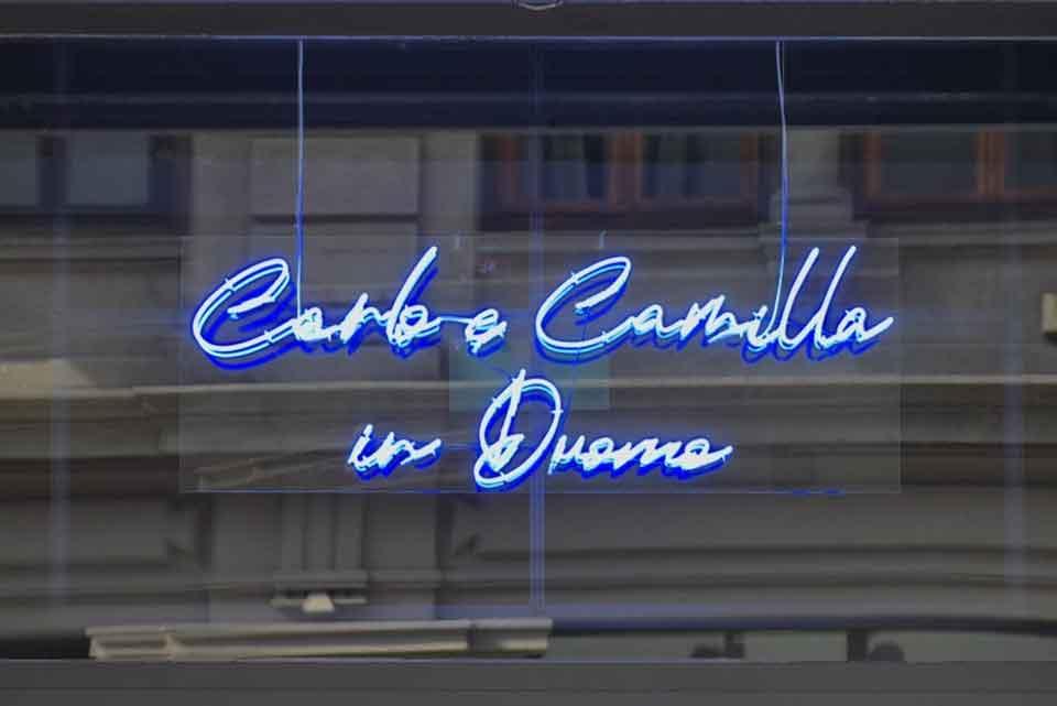 Carlo Cracco carlo e Camilla in duomo
