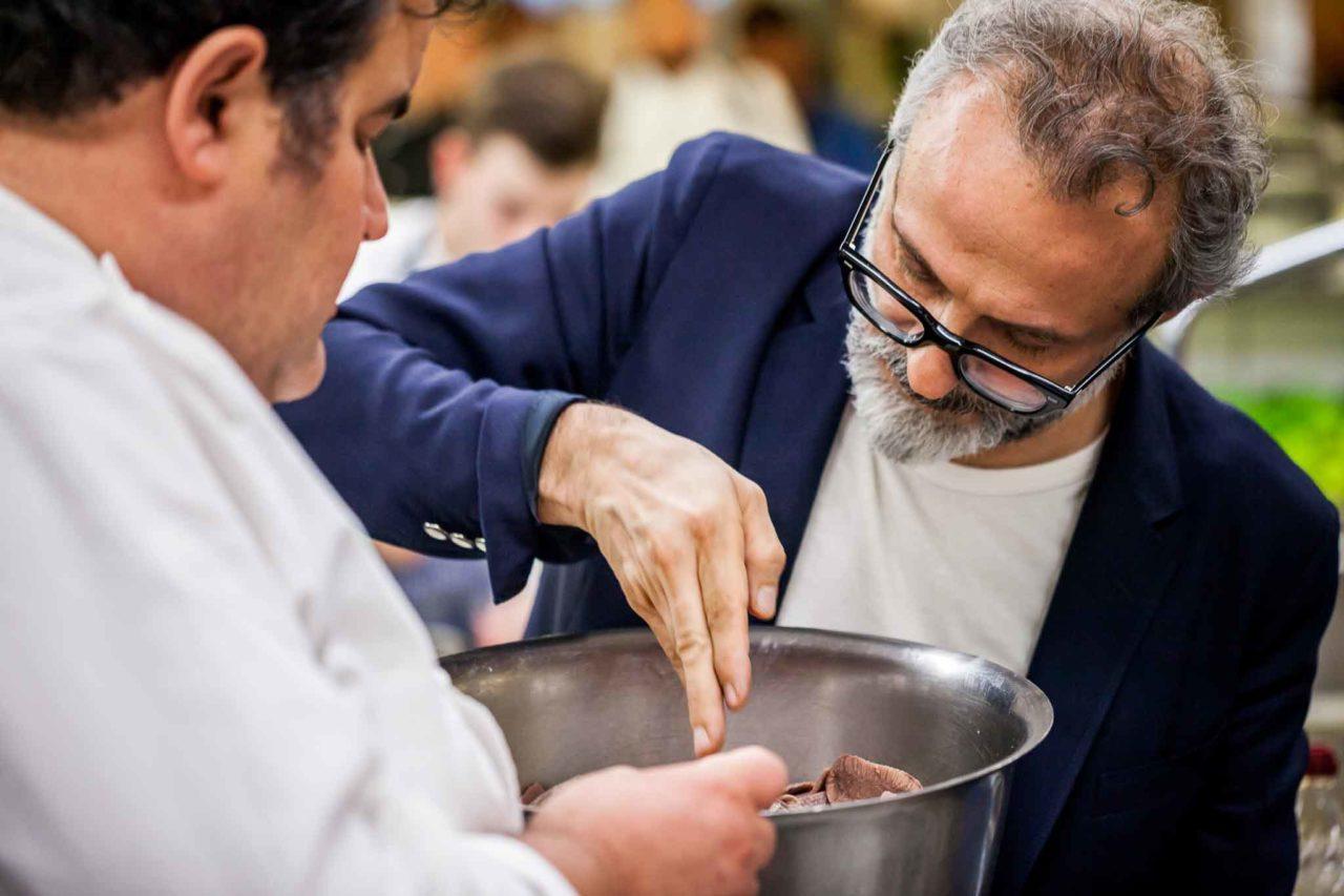 Massimo Bottura con gennarino esposito