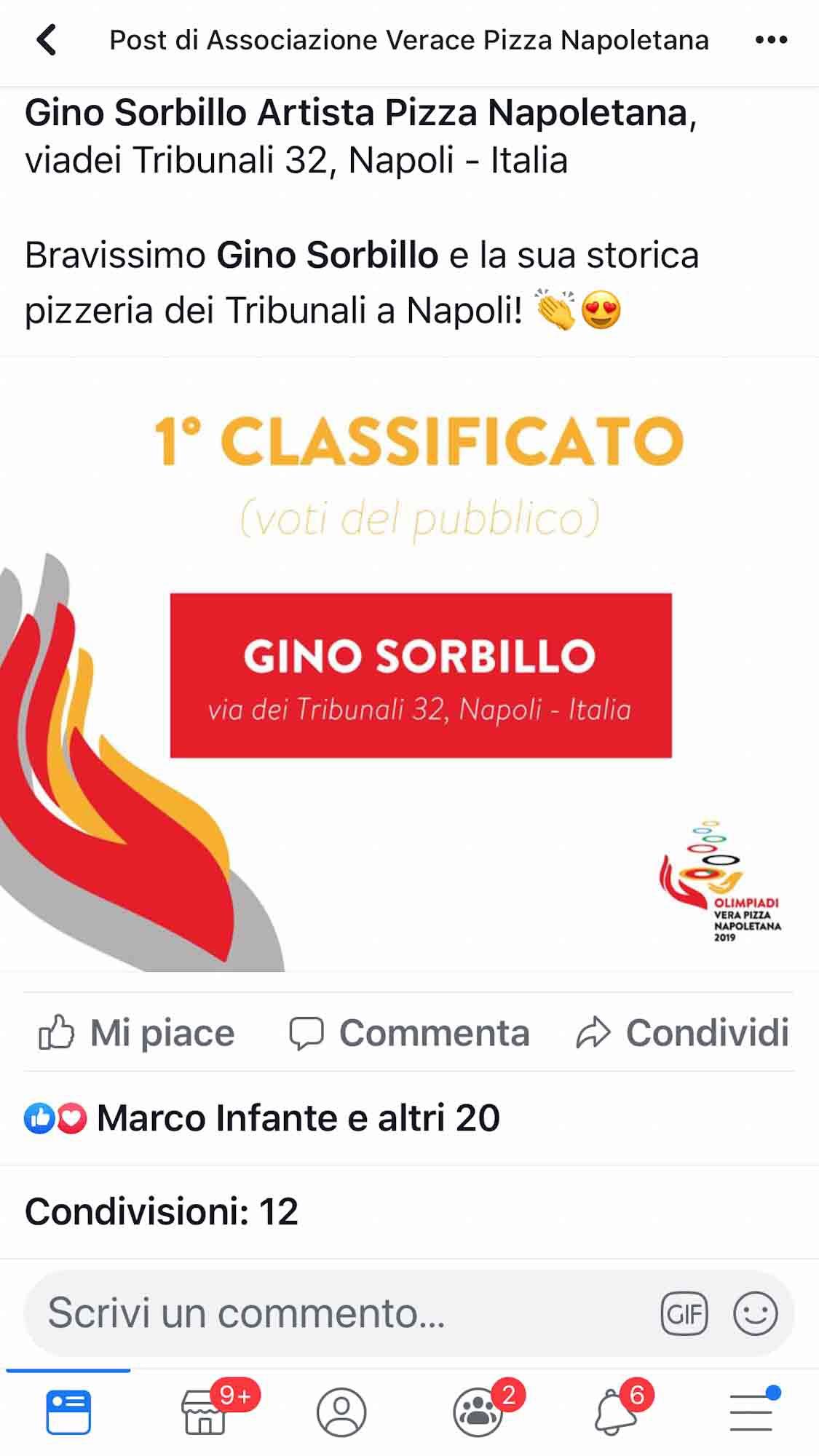 Gino Sorbillo vince le Olimpiadi della Vera Pizza Napoletana per il pubblico