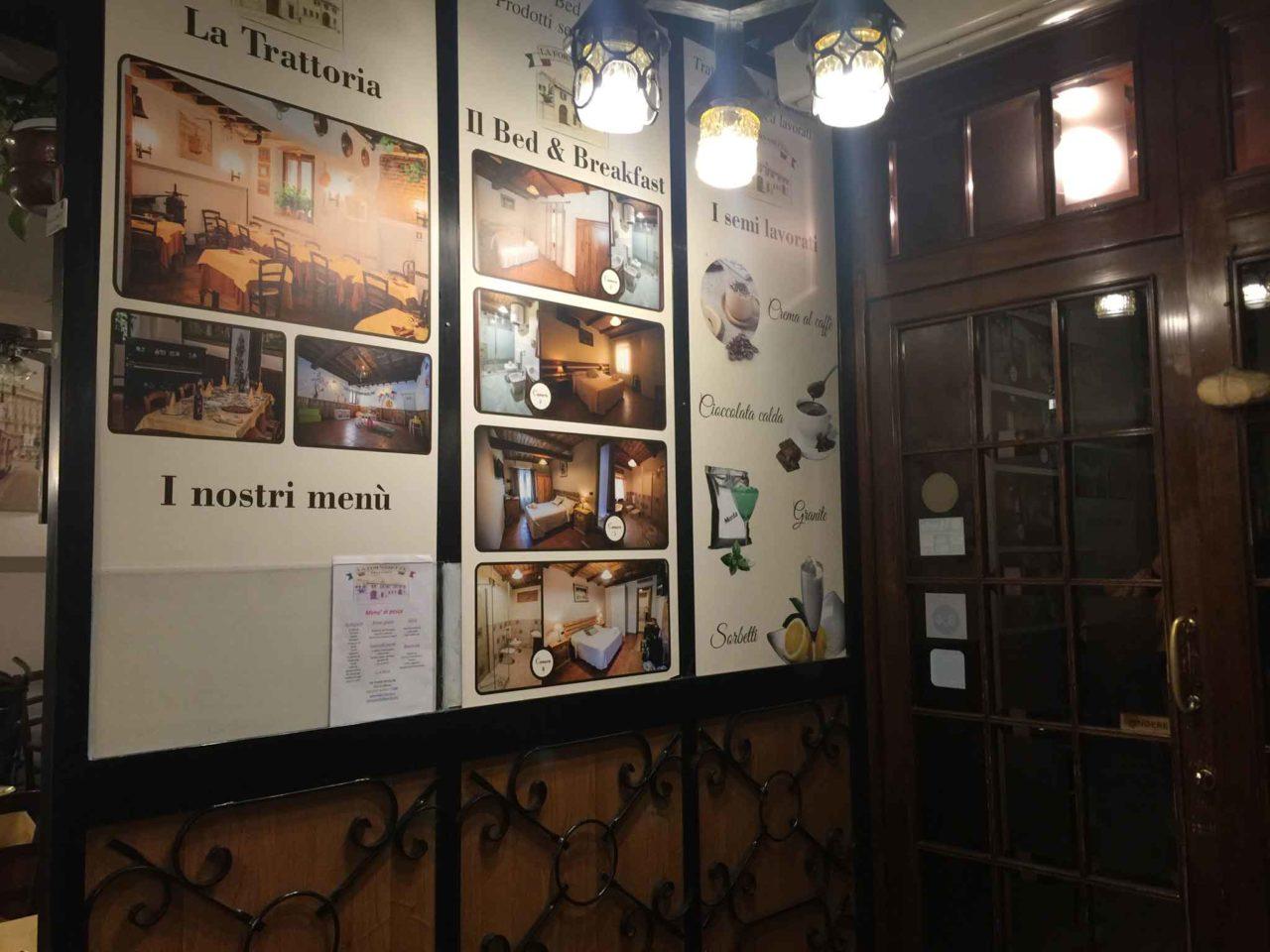 La Fornasetta trattoria Milano ingresso