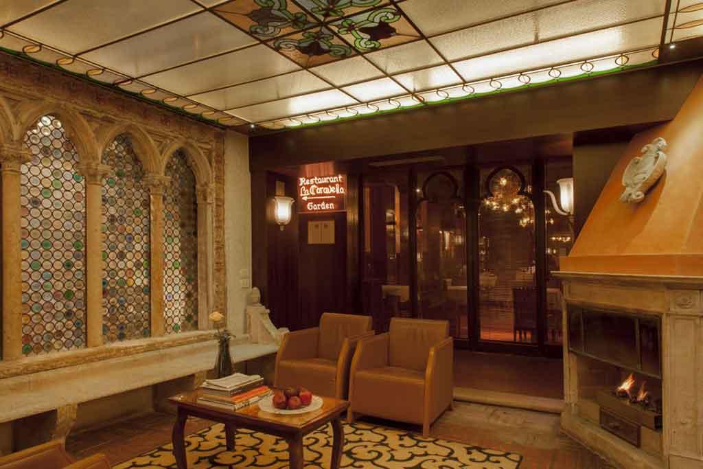 ingresso ristorante la Caravella Hotel Saturnia & International Venezia