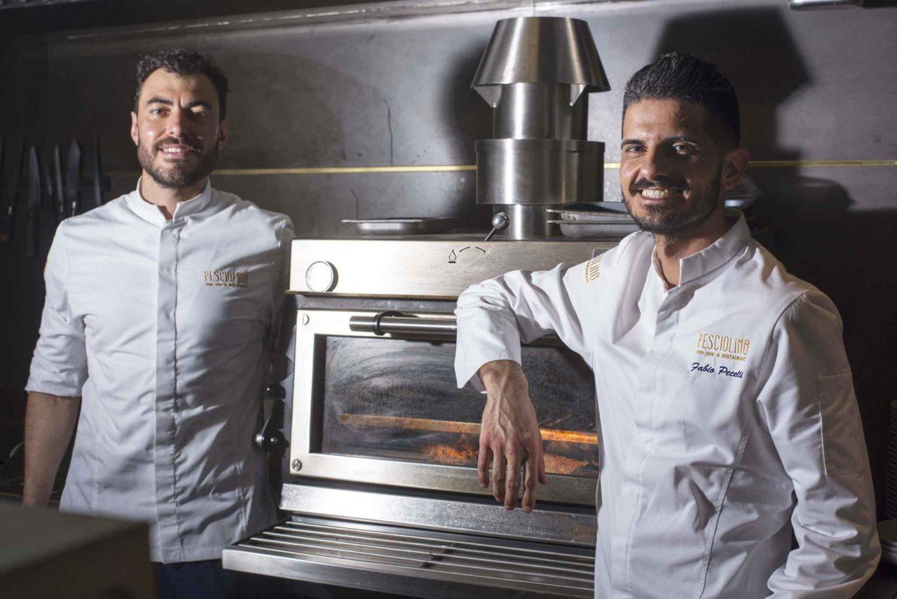 chef di cucina del ristorante di mare Pesciolino a Roma
