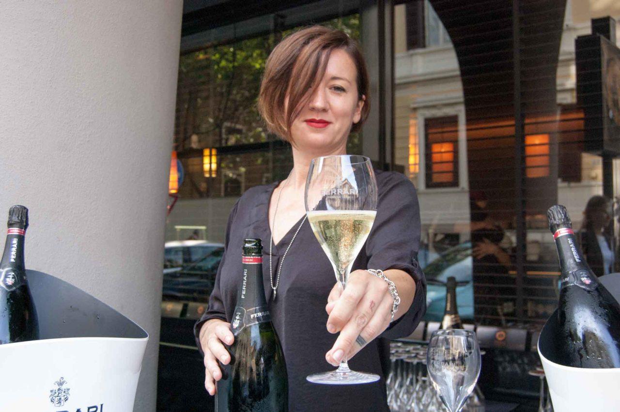 ristorante asiatico con champagne